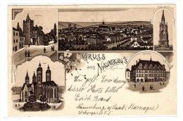 NAUMBURG - GRUSS AUS NAUMBURG - Rathaus - Dom - Ed. O. Rühlmann, Naumburg - Naumburg (Saale)