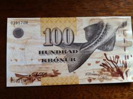 Faroe Island 100 Kronur 2002 Pick 25 UNC - Färöer Inseln