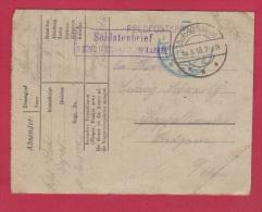 ALLEMAGNE  //  FELDPOSTKARTE  //  POUR RAPPOLTSWEILER  //  18/3/1918 - Briefe U. Dokumente