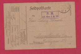 ALLEMAGNE  //  FELDPOSTKARTE  //  POUR RAPPOLTSWEILER  // 26/8/1915 - Briefe U. Dokumente
