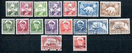 3218 - GRÖNLAND - Mi.Nr. 1-7, 28-36 Und 43, Je Gestempelt - GREENLAND, Used Stamps - Ohne Zuordnung