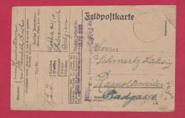 ALLEMAGNE  //  FELDPOSTKARTE  //  POUR RAPPOLTSWEILER  //  7/10/1918 - Briefe U. Dokumente