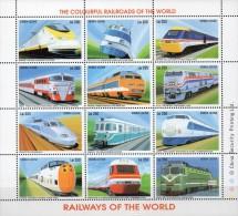 Sierra Leone  Kleinbogen Lokomotiven  **/MNH - Treni