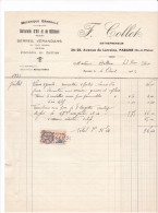 Facture Parame -avenue Lorraine - 35 France1932 -F Collet - Serres Verandahs Veranda Portail