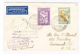 Griechenland - Luftpost Brief Athen Nach Cincinnati USA 24.5.1935 - Poste Aérienne