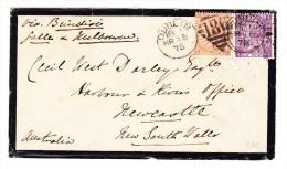 1876 Trauer-Brief Von Dublin Irland Nach New Castle Australien 2.5.1876 4 + 6 D Frankatur - Irlande
