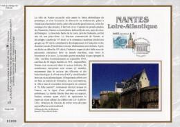 """Feuillet CEF 1° Jour N°té En Soie De 2003 N° 1646s """" NANTES """". N° YT 3552. Parfait état ! - Tramways"""