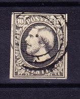 Luxemburg - 1852 Mi# 1 Gestempelt - Tiefschwarz - 1852 Guillaume III