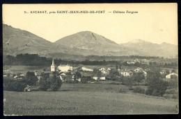 Cpa Du 64  Ascarat  Près Saint Jean Pied De Port Château Farguas   MAI16 - Saint Jean Pied De Port