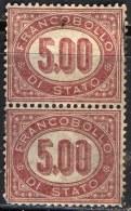 ITALIA -  SERVIZIO  5 L  PAIR  - Used - 1875 - Servizi