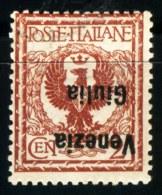 ITALIA -  VENEZIA  GIULIA  - ERRORE Soprast. CAPOVOLTA - **MNH - 1918 - Signed - 8. WW I Occupation