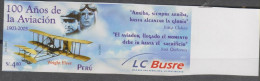 O)2003 PERU, AIRPLANE-PLANE, WRIGHT FLYER, IMPERFORATE MNH - Peru