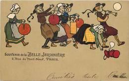 Ref A666- Dessin Illustrateur Enfants -souvenir De La Belle Jardiniere Paris - Carte Bon Etat  - - Magasins