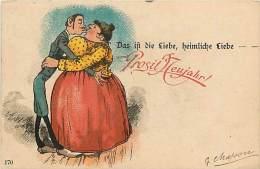 Réf : M-14--698 : Carte Illustrée Das Ift Die Liebe Heimliche Liebe Prosit Neujahr - Sin Clasificación