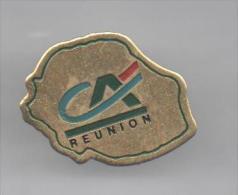 PINS PIN'S  BANQUE CA CREDIT AGRICOLE 23 X 19  MMS LA REUNION - Banques
