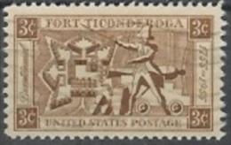 1955 3 Cents Fort Ticonderoga, Used - Verenigde Staten