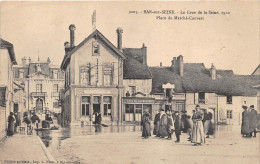 ¤¤  -  9203  -   BAR-sur-SEINE   - Crue De La Seine En 1910  - La Poste -  Banque  -  Café De La Halle   -  ¤¤ - Bar-sur-Seine