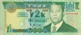 Fiji 2 Dollar 2000 Pick 102 UNC - Fidji