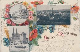 Gruss Aus REGENSBURG ( Oblitération )   PRIX FIXE - Regensburg