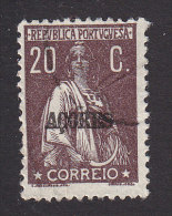 Azores, Scott #191, Used, Ceres Overprinted, Issued 1920 - Azores