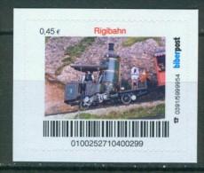 Biber Post Rigibahn (Zahnrad-Dampflok)  ( 0,45) Gezähnt Neues Logo A400 - [7] West-Duitsland