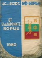 W168 / SPORT - Wrestling Lutte Ringen 1980 - 22.5 X 30 Cm. Wimpel Fanion Flag Bulgaria Bulgarie Bulgarien Bulgarije - Ringen