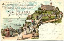 Hamburg - Blankenese, Farb-Litho, Gruss Vom Süllberg, Frühe AK, 1895 - Blankenese