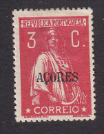 Azores, Scott #164, Mint Hinged, Ceres Overprinted, Issued 1918 - Azores