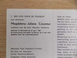 Doodsprentje Magdalena Juliana Couvreur Moorsele 27/4/1893 Wervik 2/5/1978 ( Maurice Vlaminck ) - Religion & Esotericism