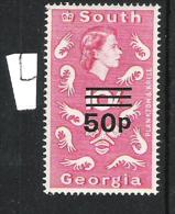 South Georgia 1971-73 Definitive Decimal Overprints MNH CV £128 - Georgias Del Sur (Islas)
