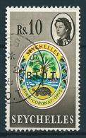 B.I.O.T. 1968  Aufdr. Auf Seychellen  10 R  Mi. 15  Gestempelt / Used - Britisches Territorium Im Indischen Ozean