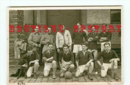 KOBLENZ < FOOTBALL < CARTE PHOTO De L'EQUIPE Des AEROSTIERS De L'A.F.R. à COBLENCE En 1924 < DOS SCANNE - Koblenz