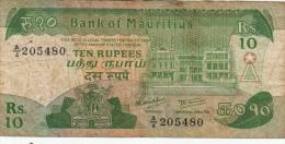 Billets -  B1239 -  Mauritius - 10 Rupees ( Type, Nature, Valeur, état... Voir 2 Scans) - Maurice