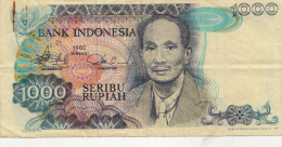 Billets -  B1244 -  Indonésie   - 1000  Seribu Rupiah  ( Type, Nature, Valeur, état... Voir 2 Scans) - Indonesia