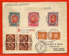 BELGIQUE LETTRE RECOMMANDEE DE 1915 DE BAARLE DUC POUR LA HAGUE PAYS BAS - Postmark Collection