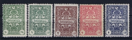 Turquie / Turkey: 1922 ISF Nr 1091-1095,  Mi  Porto 47-51 MH/* - 1921-... République