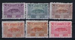 Turquie / Turkey: 1922 Isf. 1096-1101, Mi Nr 787 -7892 , MH/*   3 Pia Is Thin Paper - Nuevos