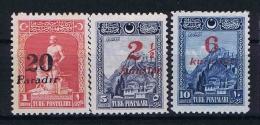 Turquie /Turkey: 1929 Isf. 1202-1204 ,Mi Nr 882-884 , MH/* - Unused Stamps