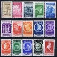 Turquie /Turkey: 1935 Isf. 1324-1338 ,Mi Nr 985-999 , MH/* - 1921-... Republic
