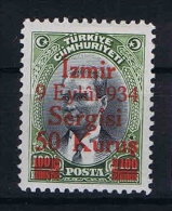 Turquie /Turkey: 1934 Isf. 1323 ,Mi Nr 979 , MH/* - 1921-... Republic