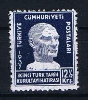 Turquie /Turkey: 1937 Isf. 1357 ,Mi Nr 1013 , MH/* - 1921-... Republic