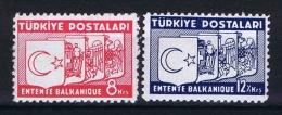 Turquie /Turkey: 1937 Isf. 1358-59,Mi Nr 1014-15 , MH/* - 1921-... Republic