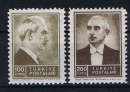Turquie /Turkey: Isf. 1478-79, Mi. Nr 1053-54 MNH/**  1942 - 1921-... Republic