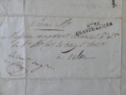 premier Empire  extrait Mortuaire 1806 avec Tampon affranchissement  N�26 Grande Arm�e