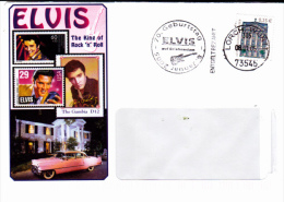 ELVIS, STAMP ON COVER, SPECIAL POSTMARK, 2005, GERMANY - Cartas