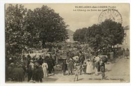 St-HILAIRE Des LOGES. - Le Champ De Foire Un Jour De De Foire - Saint Hilaire Des Loges