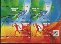 2014 Polen Polska Sheet Mi. 2658-9 **MNH - Winter 2014: Sotschi