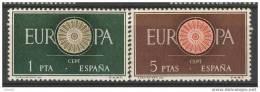 ES1294-L1982.Spain.Espagne   .España.EUROPA   CEPT.1960.(  Ed 1294/5**),sin Charnela. LUJO - 1951-60 Nuevos & Fijasellos