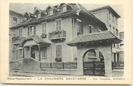 DEP 74 ANNECY LA CHAUMIERE SAVOYARDE 2 CARTES PUB - Annecy