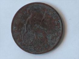 Grande-Bretagne 1 Penny 1891 - 1816-1901 : Frappes XIX° S.